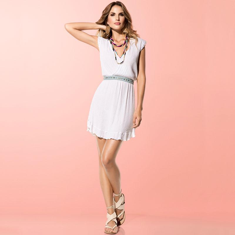 399feb2026aa Salida de baño Vestido Just Luxury Mildsand Blanco
